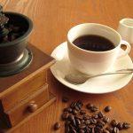 コーヒーとコーヒー豆、ミルクの画像